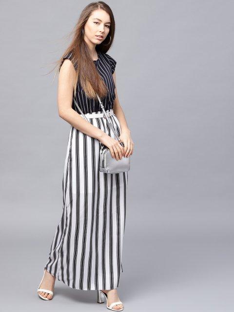 355e73874a Athena Women Black White Striped Maxi Dress Grabfly Best. Hotapei Women S Summer  Casual ...
