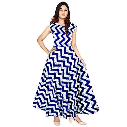 3196f62d2fa Mudrika Women s Rayon Traditional Jaipuri Print One Piece Midi Dress  (FR 3934