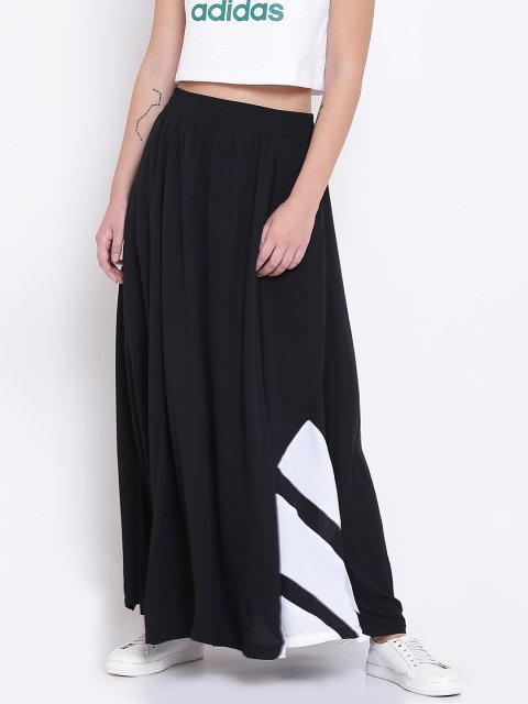 declarar Sombra Publicación  Adidas Originals Black EQT Flared Maxi Skirt - Grabfly- Best Online  Comparison Shopping