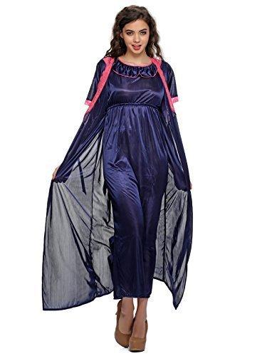 8d43e80f6c 55% Clovia Women s 2 Pcs Satin Nightwear Set In Blue – Long Robe   Nightie  (NSM295G08 Blue Free