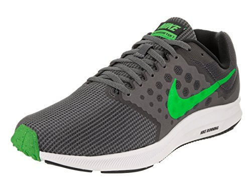 8c694374814c4b 15% Nike Men s Dowshifter 7 Dark Grey  Rage Green Running Shoes (UK-9 (