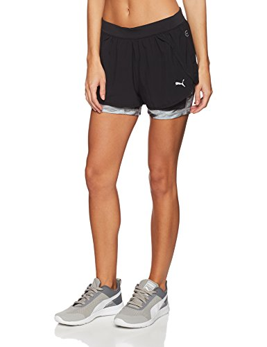 e73d5eb0e06 Puma Women's Sports Shorts (51560202 Black-Inner Tight AOP_S)